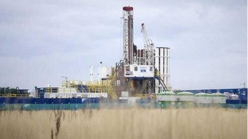 Cuadrilla drilling rig in Lancs