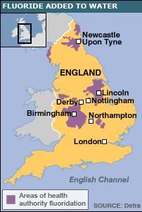 fluoride UK map